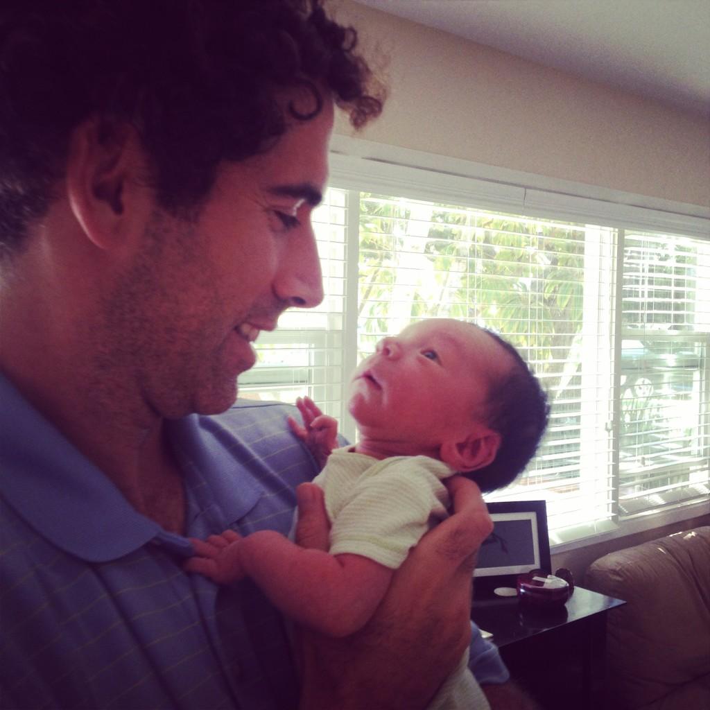 Daddy & Liam (3 days old)