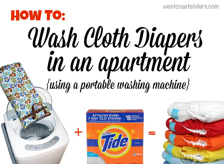 how to wash cloth diapers in an apartment