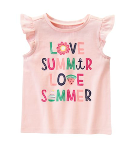 Gymboree Love Summer Tee