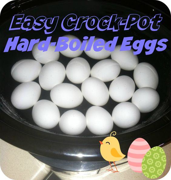 easy hard boiled eggs in the crockpot