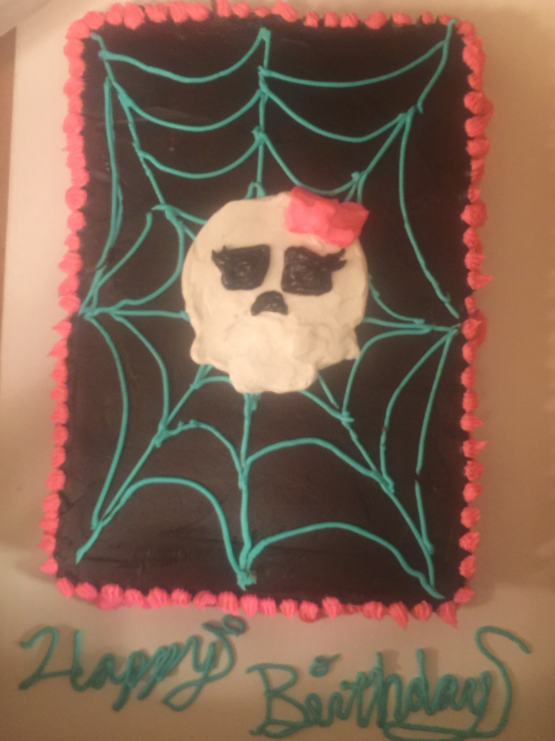 This one is for a 5 year old who love monster high dolls. I had to look up what they were but it turned out pretty cute.