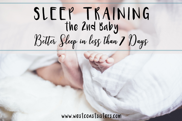 sleep training second baby