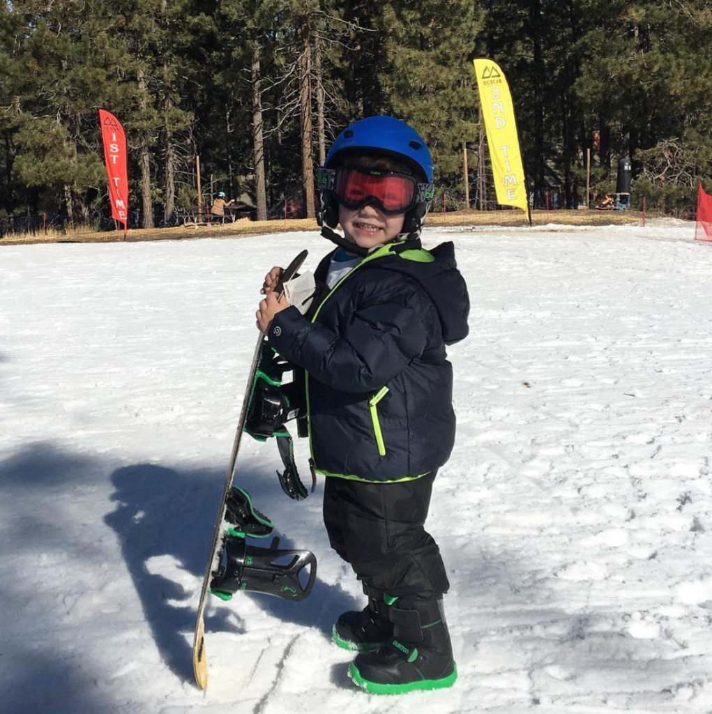 Liam snowboarding big bear