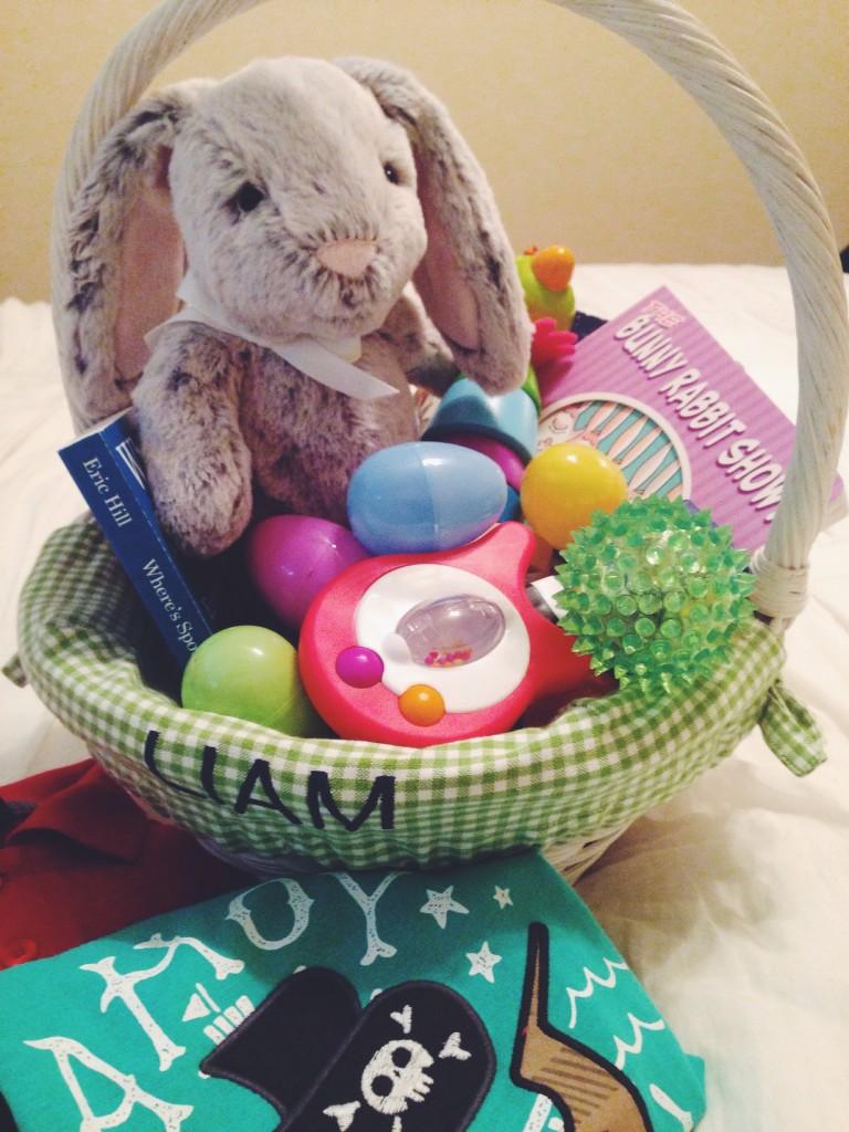 babys first easter basket