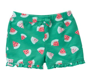 Gymboree French Terry Watermelon Shorts
