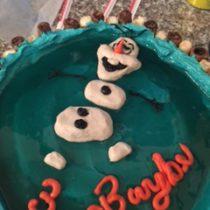 Easy Olaf Cake