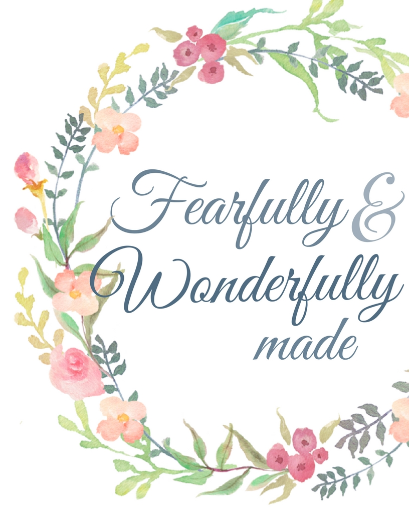Free nursery art printable-Fearfully and wonderfully made
