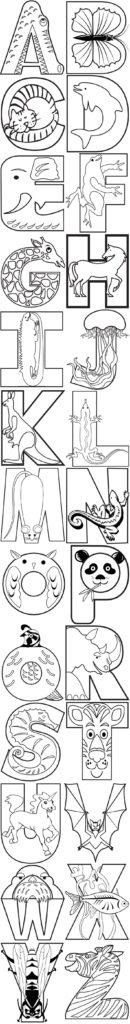 animal-alphabet-color-page
