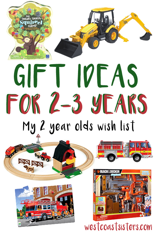 gift ideas for 2 to 3 year olds